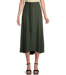 velvet women's raleigh linen skirt - green - size s