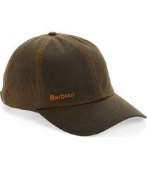 men's barbour prestbury baseball cap - green