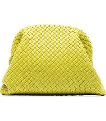 bottega veneta the pouch leather clutch bag - green