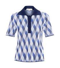 blusa feminina fabiana - azul