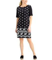 karen scott garden floral dress, created for macy's
