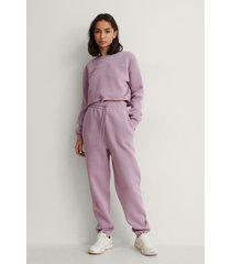 na-kd trend ekologiska mjuka sweatpants - purple