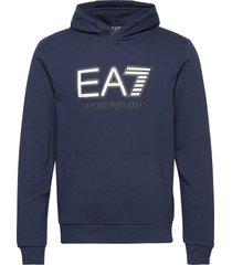 sweatshirt hoodie blå ea7