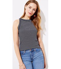 loft striped halter outfit-making tank