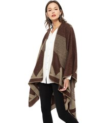 poncho eclipse marrón - calce oversize