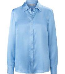 blouse in overhemdmodel met lange mouwen van uta raasch blauw
