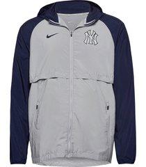 new york yankees nike mesh logo essential dun jack grijs nike fan gear