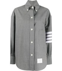 thom browne crinkle stripe shirt - grey