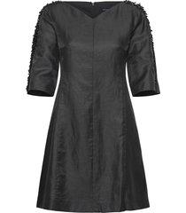 dominica cluster 3/4 slv dress kort klänning svart french connection