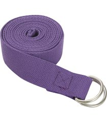 jade yoga d-ring strap 8' purple cotton
