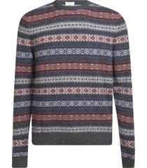 eddy monetti patterned sweater
