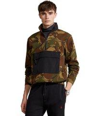 polo ralph lauren men's camo water-repellent hybrid hoodie