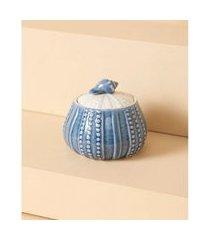 pote de cerâmica - pote petani cor: azul - tamanho: único