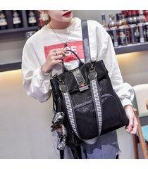 mochila de mujer, bolso de hombro con lentejuelas retro mochila de-negro