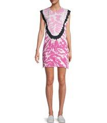 iro women's sundown tie-dyed mini tank dress - candy pink - size xs