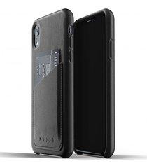 etui full leather wallet iphone xr black