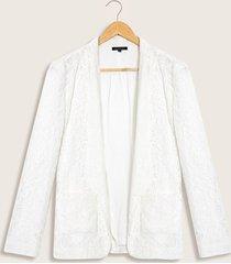 blazer encaje blanco 8