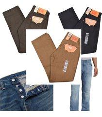 levi's 501 men's regular jeans pants original fit straight leg button fly