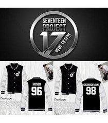 kpop seventeen baseball uniform shining diamond coat varsity jacket outwear