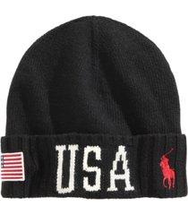 polo ralph lauren men's cuffed stadium hat