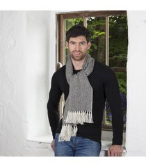 irish alpaca wool scarf black