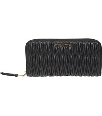 miu miu zip-around continental wallet