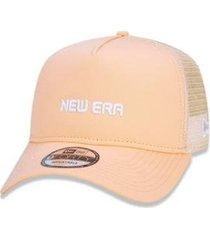 boné 940 branded aba curva laranja new era