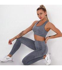 3 elementowy strój active legginsy, stanik i top