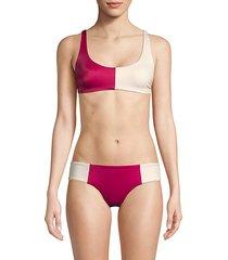 colorblock bikini top