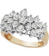 diamond crown ring in 10k gold (1/2 ct. t.w.)