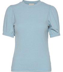 johanna tee blouses short-sleeved blå minus
