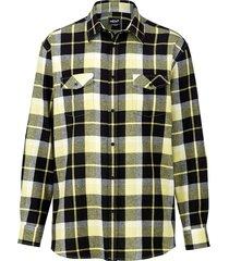 overhemd men plus zwart::wit::geel