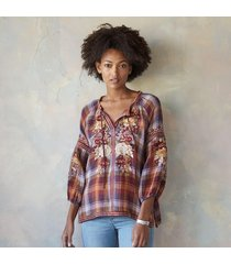 johnny was collection harvest fields blouse