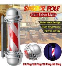 señal 57cm led barber shop polo giratoria del salón de pelo de la luz roja de la raya blanca diseño - regulaciones estadounidenses 110v