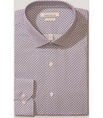 camisa formal estampada gris perry ellis