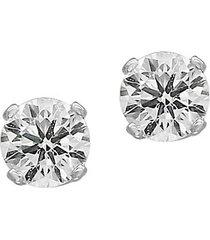 14k white gold & 0.32 tcw diamond stud earrings