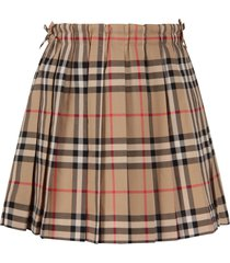 burberry beige skirt with vintage checks for girl