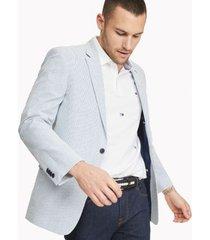 tommy hilfiger men's regular fit essential seersucker blazer blue/white seersucker - 38r