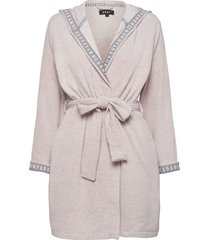 dkny all about layers robe l/s morgonrock creme dkny homewear