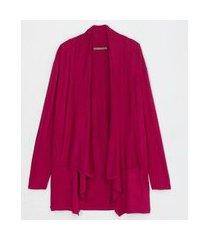 casaqueto com pontas curve e plus size rosa