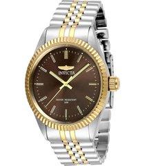 reloj invicta acero dorado modelo 293ih para hombres, colección specialty
