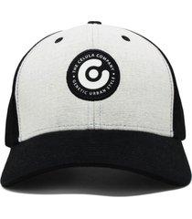 boné célula baseball mescla preto
