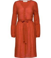 alicecr dress knälång klänning orange cream