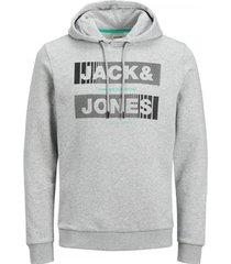 sweater jack & jones 12191028 jcochris sweat hoody light grey mela