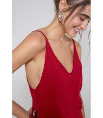 blusas e camisas oh, boy! regata vermelho - vermelho - feminino - dafiti
