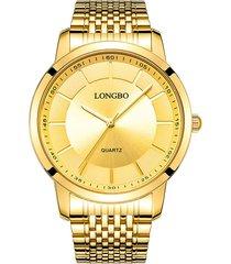 longbo classic casual quartz luxury gold watches coppia orologi in acciaio inossidabile regalo per uomo donna