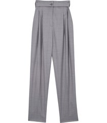 burberry cutout tailored trousers - grey
