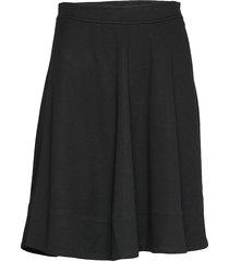 jersey half circle skirt knälång kjol svart calvin klein