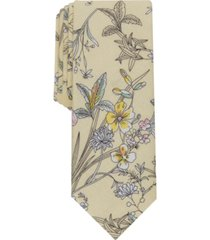 bar iii men's vale slim floral tie, created for macy's