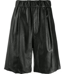 jejia high-rise bermuda shorts - black
